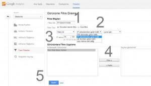 Google İstatislik Yönetici Tüm Filtreler IP Adresi Kaldır